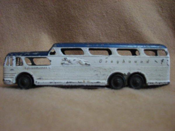 11: Tootsietoy Greyhound scenic crusier bus.