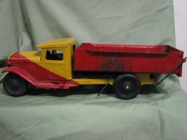 13: 1930's Buddy L Dray dump truck