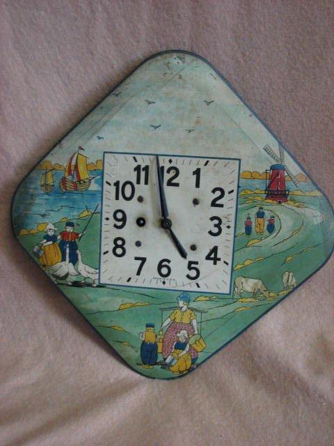 16: Vintage Childs wall clock. Original