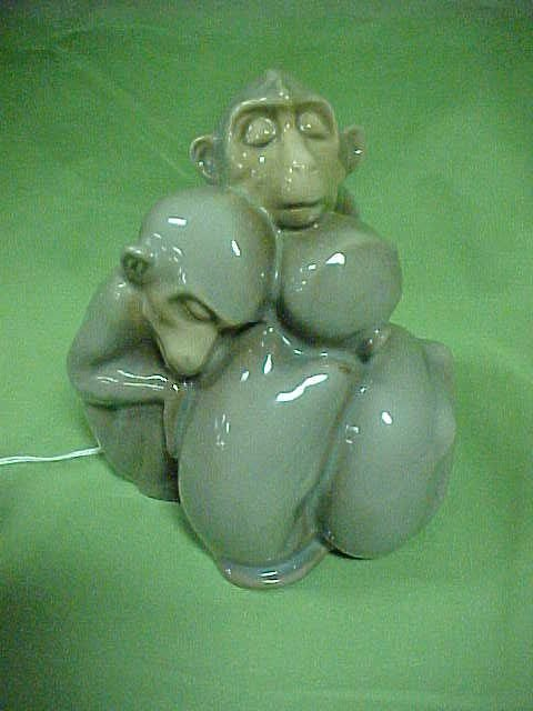 206: B&G Copenhagen  porcelain 3 monkeys