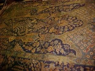 (9477) N. Esfahan handmade wool Persian Rug