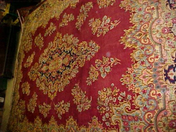 14: (9751) Kerman handmade wool Persian Rug