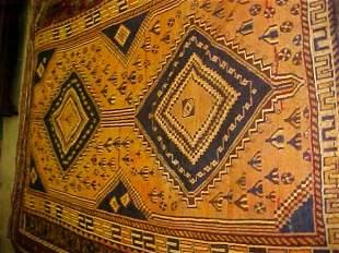 (9082) Gashghae handmade wool Persian Rug