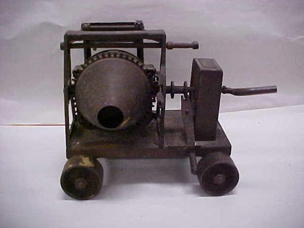 126: (14) Antique toy RARE 1920s Buddy L cement mixer