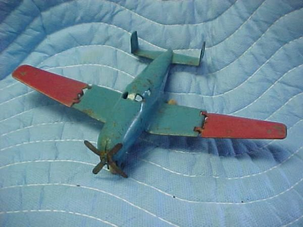6: Small steel aircraft airplane 4 prop Whandotte twin
