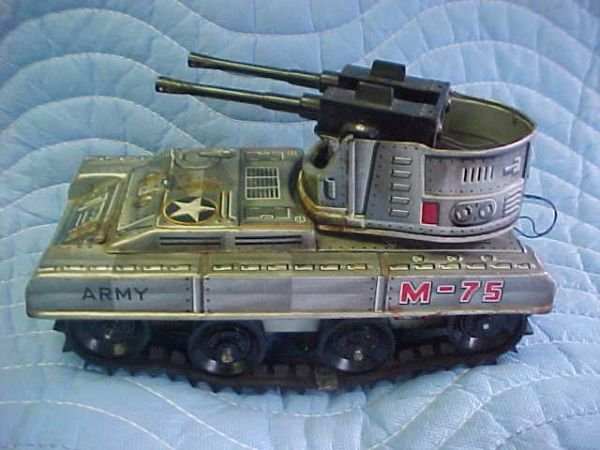21: Armored Tank w/buffers Made in Japan toy