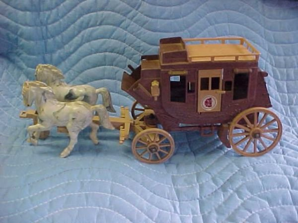 13: Early Roy Rogers stage coach w/horse team