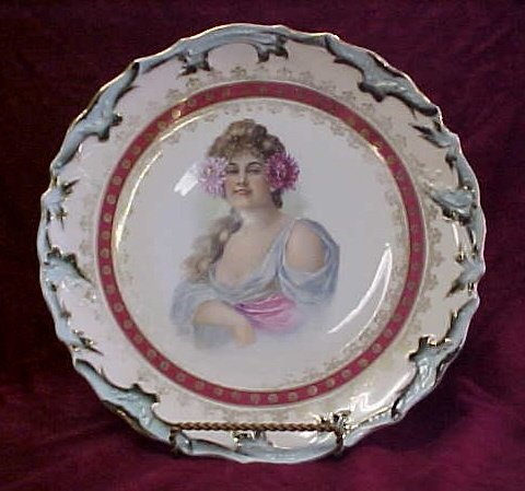 404: Austrian hand painted plate-not signed