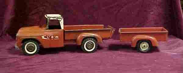 1961 Tru-scale International pickup w trailer