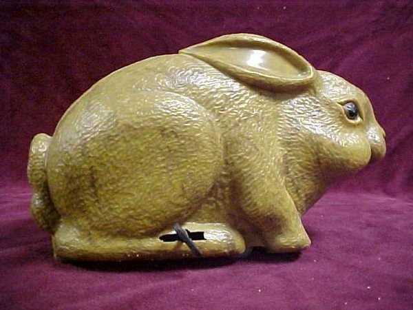 703: 1950s wind-up steel Rabbit toy
