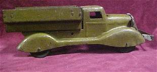 1930s Marx Military toy truck