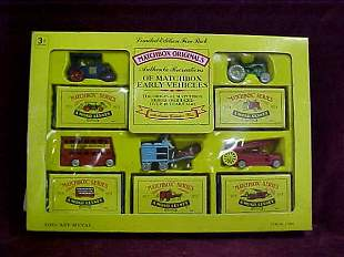 5 pack Matchbox Recreations of Yesteryear