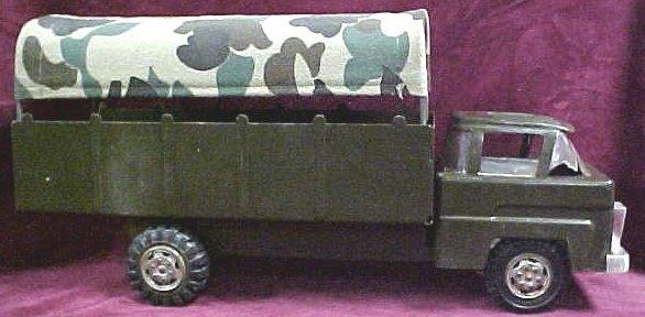 709: Marx Futuristic military toy truck w cover