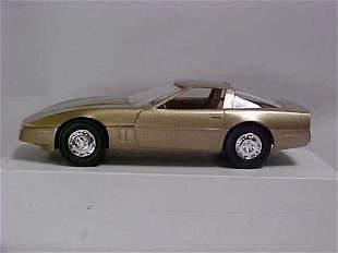1986 Gold Corvette promo toy car boxed