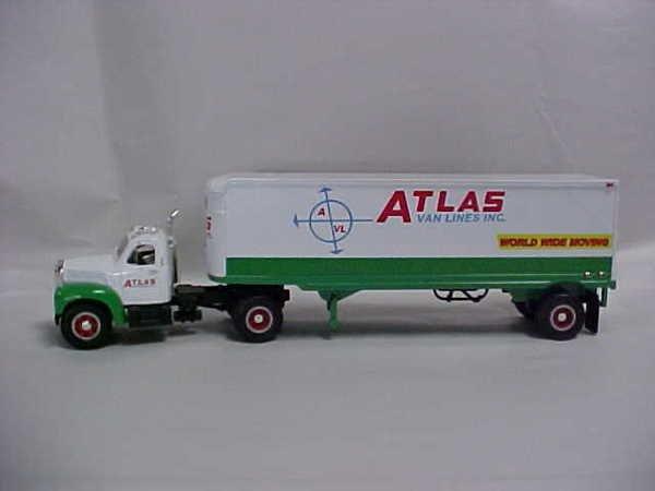 723: Mack toy semi-truck Atlas Moving Lines