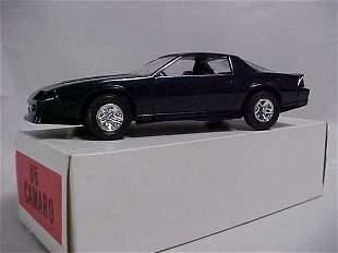 1986 Camaro blue metallic promo toy car