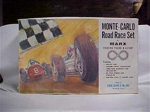 1960s Marx Monte Carlo race set less cars