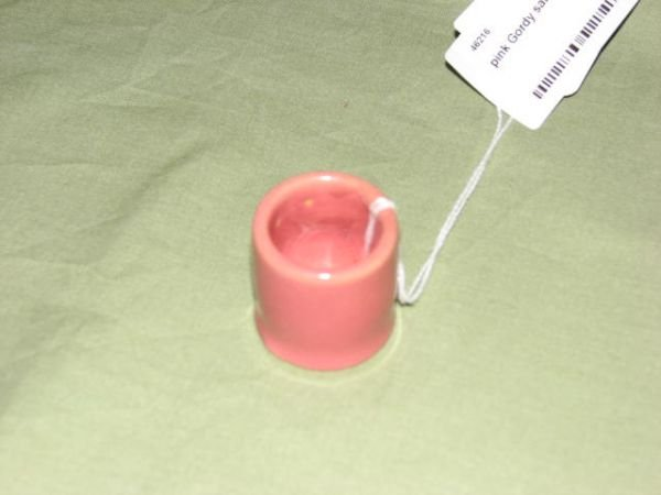 8: W.J. Gordy pink glaze individual salt