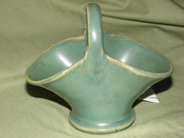 16: W.J. Gordy green glaze basket.