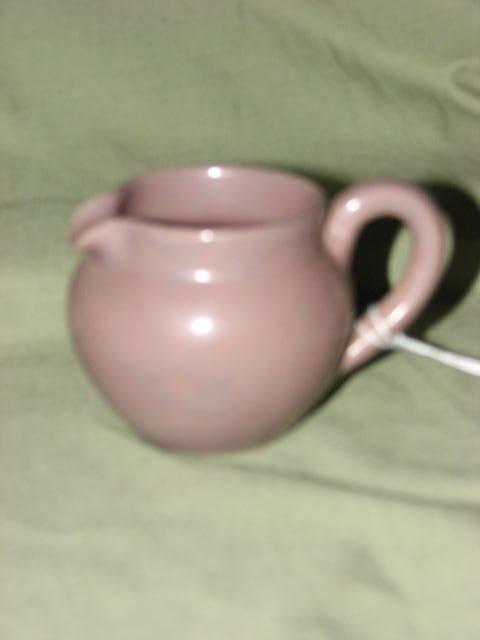 18: W.J. Gordy small Mauve glaze pitcher