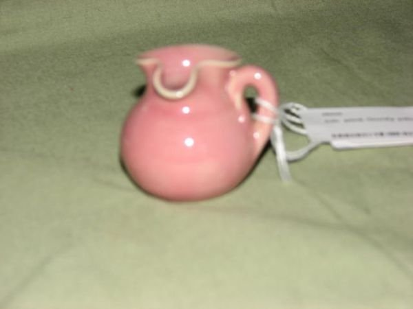 19: W.J. Gordy small pink glaze pitcher
