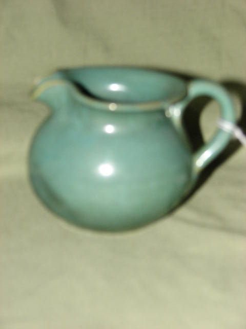 20: W.J. Gordy small green glaze pitcher