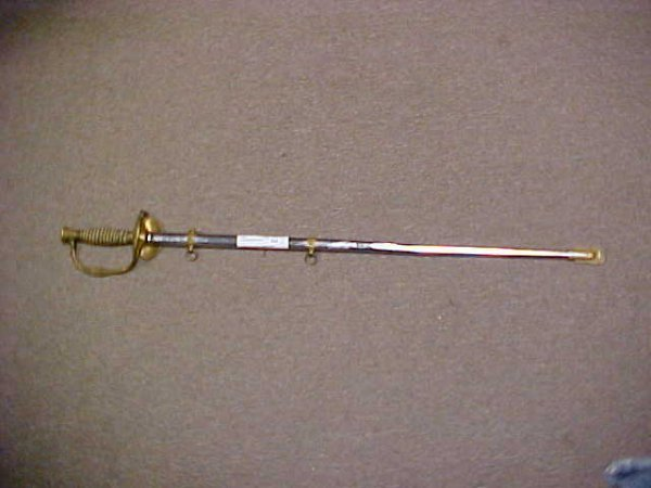 575: Early military sword by M.C. Lilley Co. Columbus O