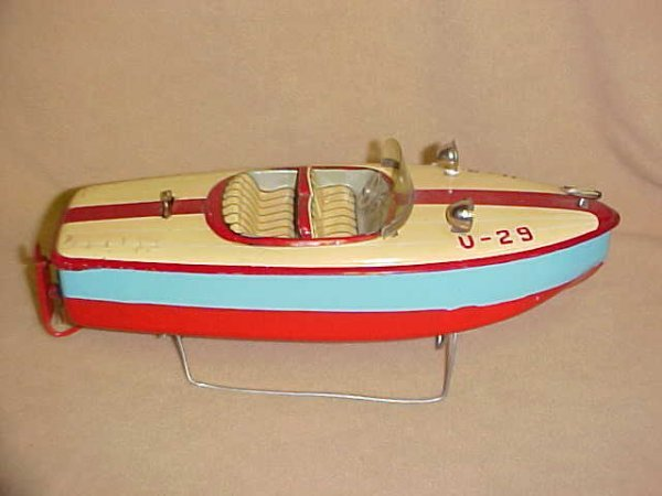 4: U-29 1960's Japanese tin battery operated boat