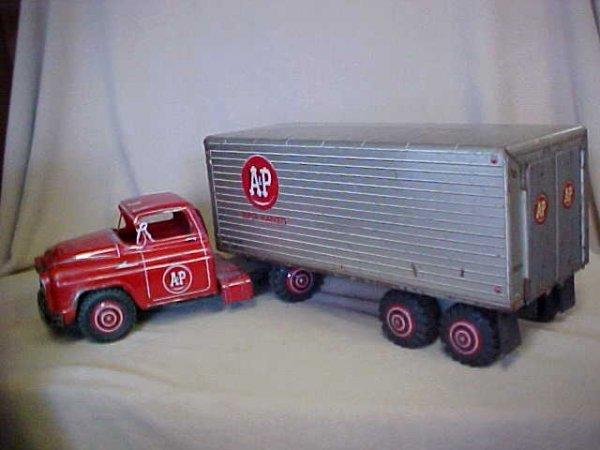 24: 1950's Chevy A&P Supermarket Semi truck & trailer