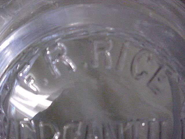188: F.R. Rice Mercantile Cigar Co. glass store jars. - 3