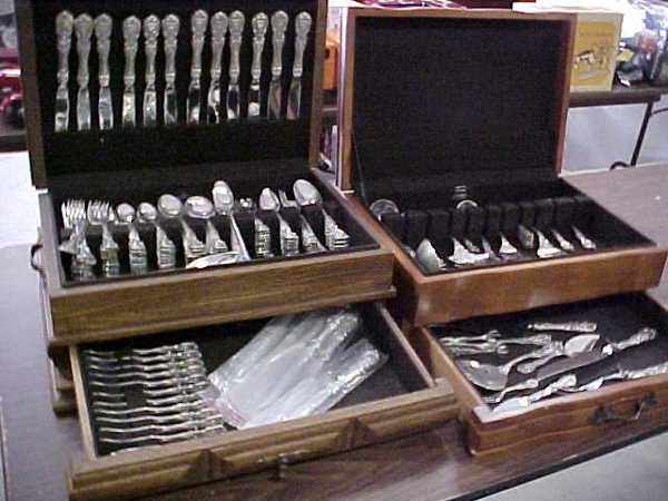 1255: 199 pc Reed & Barton sterling silver serving set