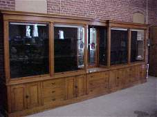 56 Solid cherry back bar display case 18 8long