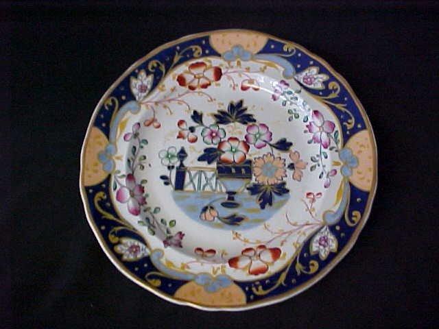 "5: 9"" decorative plate 1800's porcelain no markings."