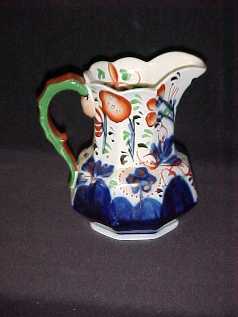 11: A. Allertons porcelain Englany pitcher cobalt blue