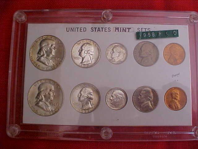 37: (134) Lot of 3 1958 &1956  Mint Sets