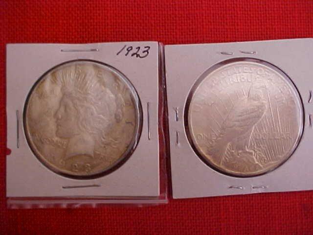 (179) Lot of 4 1923 Dollars