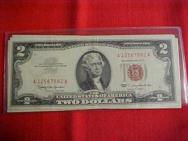 97: lot of 5 1963 $2 Bills