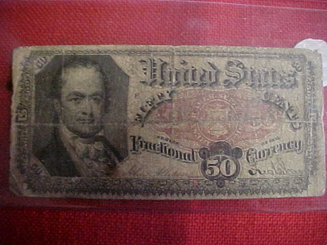 99: 1817-1825 50 cent Fractional Note