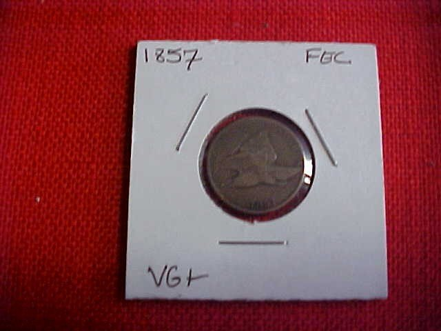 102: 1857 Flying Eagle Coin