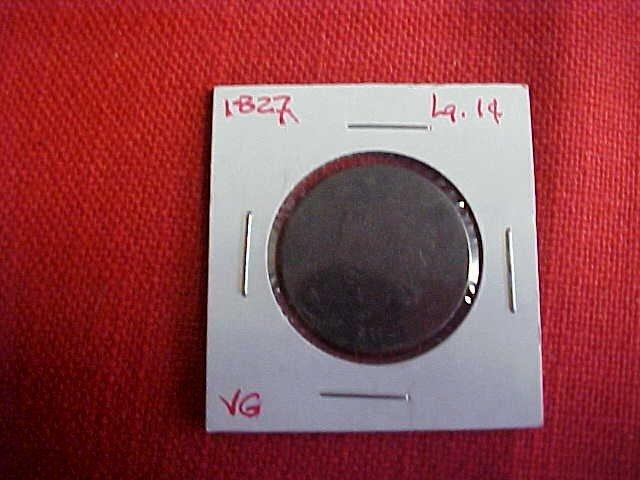104: 1827 Large 1 Cent