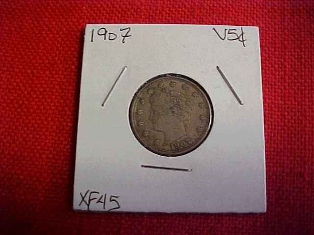 112: 1907 V Nickel