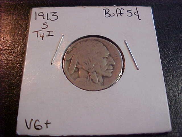 116: 1913 S Buffalo Nickel