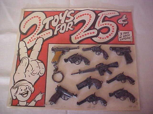 271: Tootsie Mini Toy Guns 10 pc.
