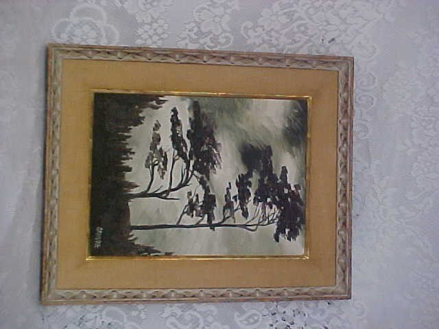 341: Signed Painting By Sandre