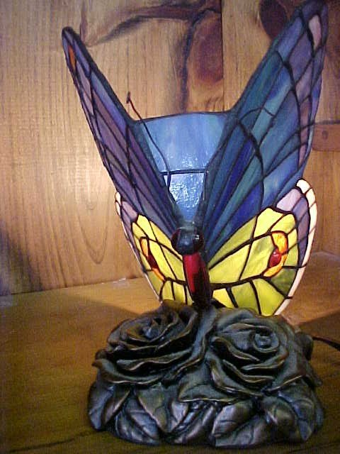 4: Small  Butterfly Leaded  Glass Tiffany Style