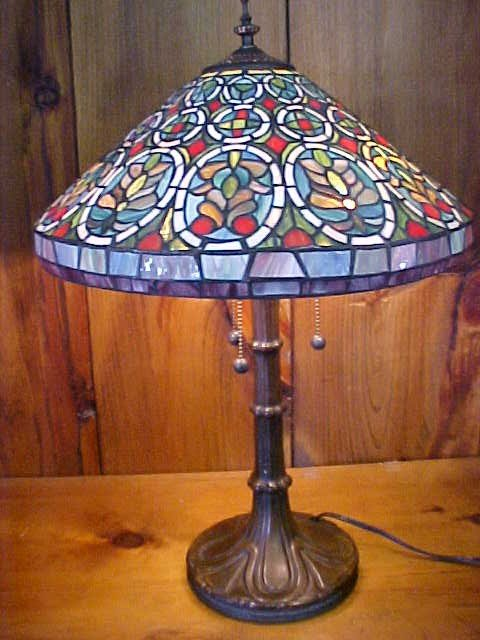 16: Medium Multi-Color Tiffany Style  Lamp