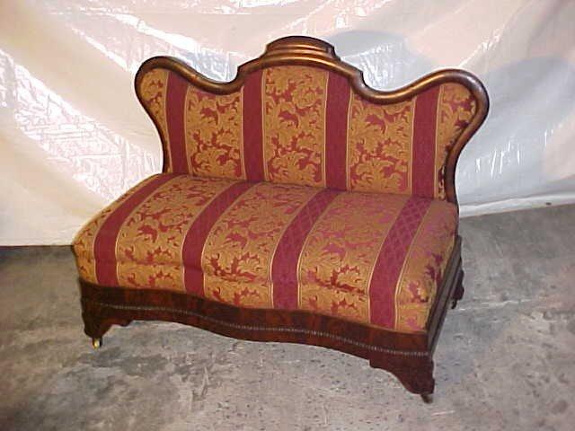 13: Period Empire restored mahogany settee.