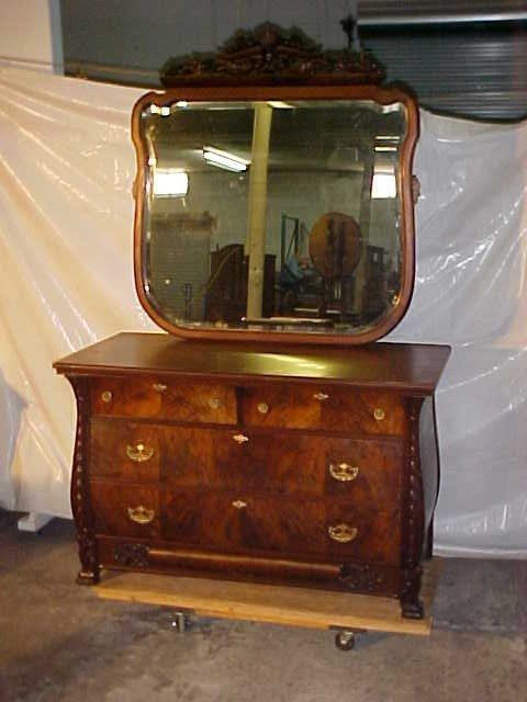 15: Mahogany Victorian dresser chest w/mirror.  Restore