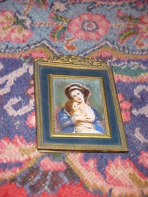 16: Early handpaint on porcelain portrait.