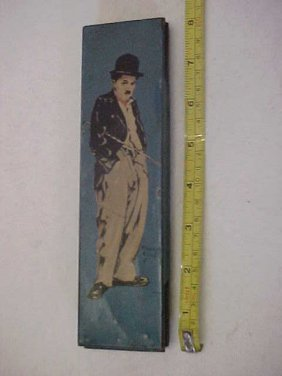 12: Early Charlie Chaplin tin lithographed pencil box 1